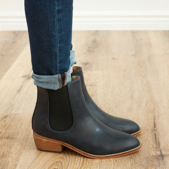 e3e12f2e0d8 Designer Dupe Chase Ankle Boot - Midnight Navy NWT